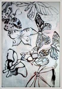 01-1mx1.5m. Butterflyand Fairy. Acrylic
