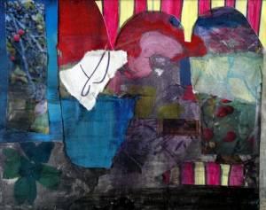 06-15cmx20cm. Candy Stripe. Collage.