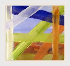 10-20cmx20cm. Abstracting Millgate Fields. Acrylic. - Copy - Copy