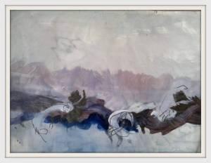 14-A1. Dusk Abstract Landscape. Acrylic. - Copy - Copy