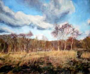 19-40x50cm. Millgate Hayfield. Acrylic