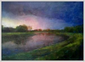 23-Copy Of Mersey Flood, Blue. Nfs