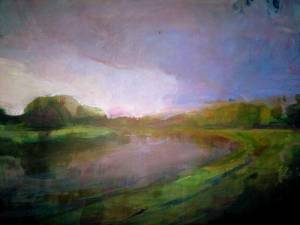 24-A3. Mersey Flood. Acrylic