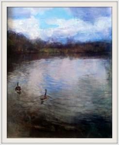 26-40cmx50cm. Chorlton Waterpark. Acrylic (1)