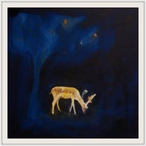 27-50x50cm. November Deer. Acrylic
