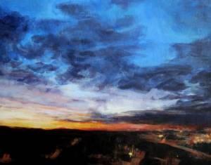 28-40x50cm. Winter Dawn. Acrylic